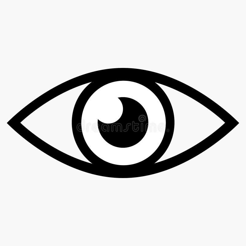 Εικονίδιο ματιών ελεύθερη απεικόνιση δικαιώματος