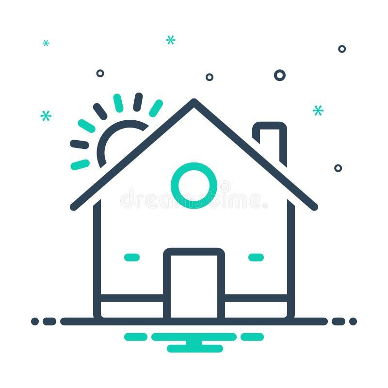 εικονίδιο μείξης για σπίτι, διαμονή και κατοικία απεικόνιση αποθεμάτων