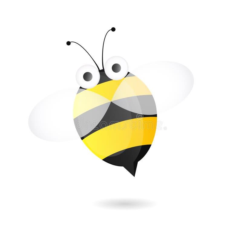 Εικονίδιο μελισσών κινούμενων σχεδίων ελεύθερη απεικόνιση δικαιώματος