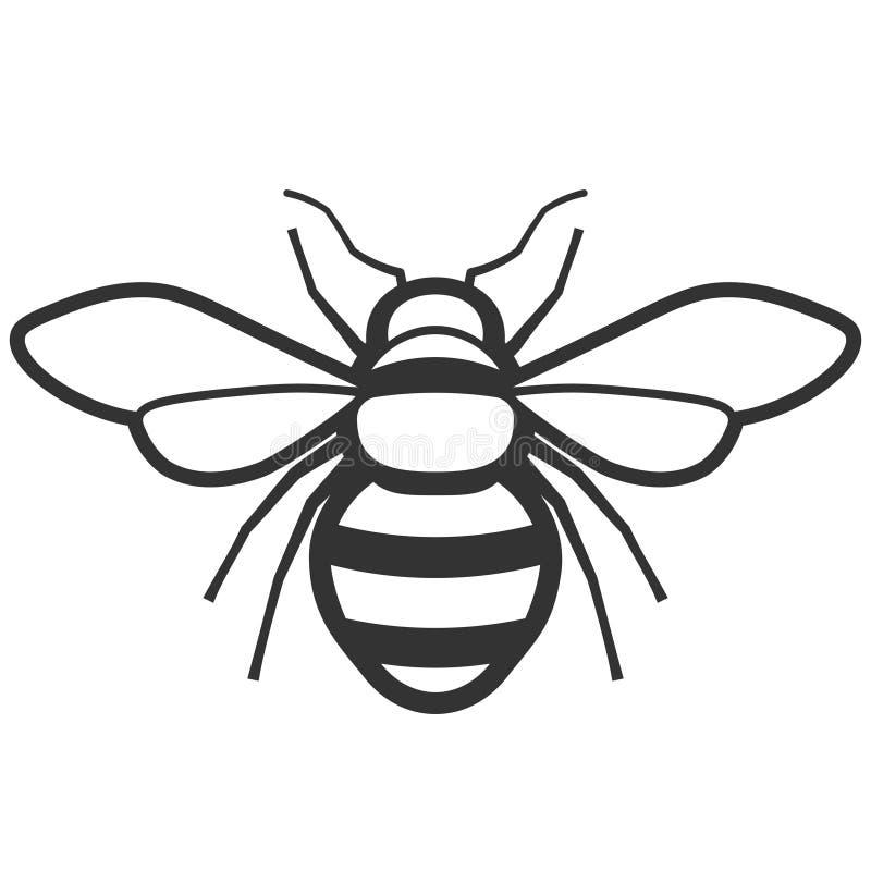 Εικονίδιο μελισσών μελιού ελεύθερη απεικόνιση δικαιώματος