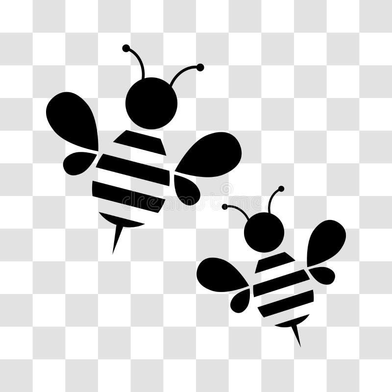 Εικονίδιο μελισσών μελιού απεικόνιση αποθεμάτων