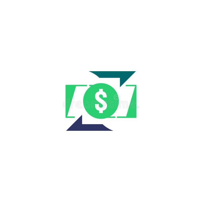 Εικονίδιο μεταφοράς χρημάτων Σημάδι περιγράμματος Chargeback γρήγορο πίσω σύμβολο μετρητών κεφαλαίων Η ανταλλαγή νομίσματος αναχρ ελεύθερη απεικόνιση δικαιώματος