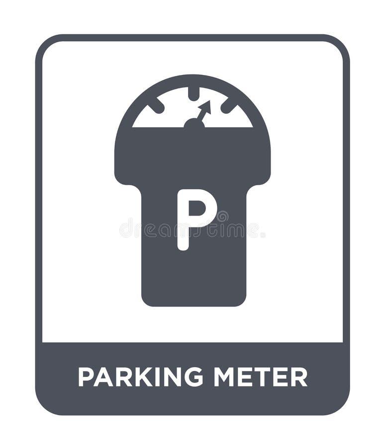 εικονίδιο μετρητών χώρων στάθμευσης στο καθιερώνον τη μόδα ύφος σχεδίου Εικονίδιο μετρητών χώρων στάθμευσης που απομονώνεται στο  ελεύθερη απεικόνιση δικαιώματος