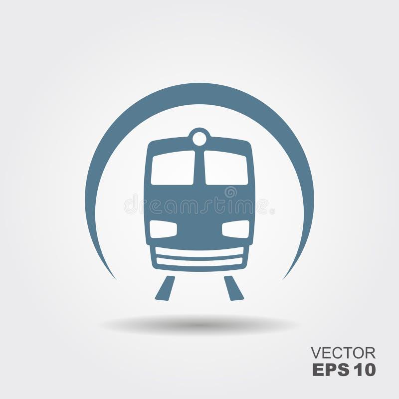 Εικονίδιο μετρό επίπεδο ελεύθερη απεικόνιση δικαιώματος