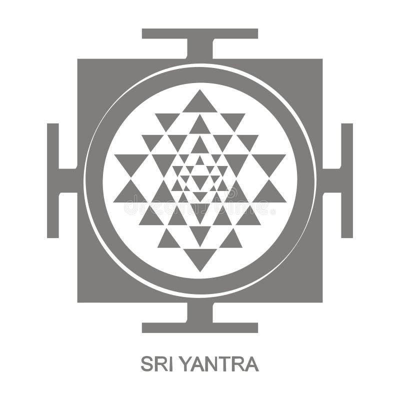 Εικονίδιο με το σύμβολο Sri Yantra Hinduism απεικόνιση αποθεμάτων