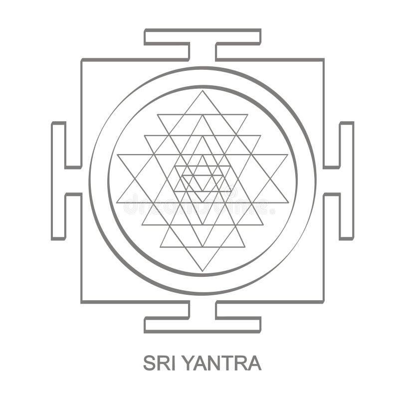 Εικονίδιο με το σύμβολο Sri Yantra Hinduism ελεύθερη απεικόνιση δικαιώματος