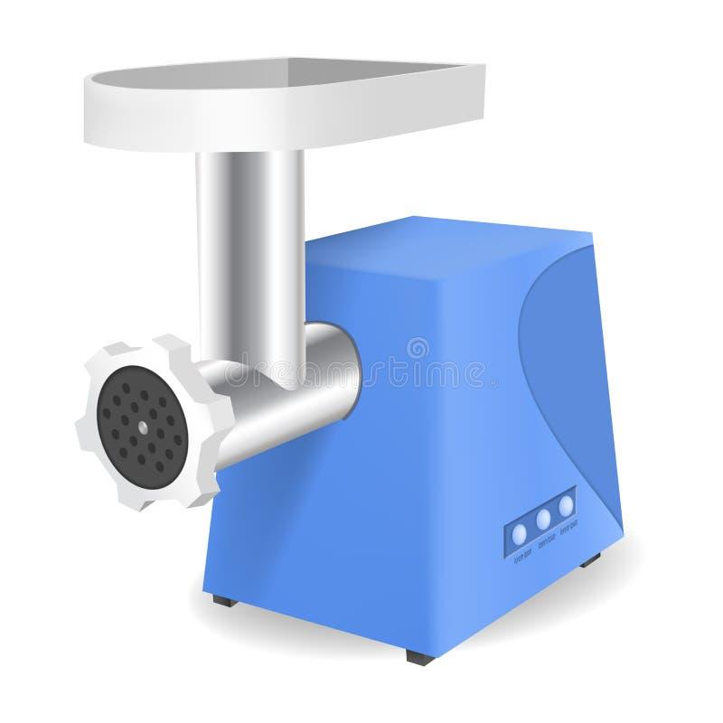 Εικονίδιο μηχανή κοπής κιμά, ρεαλιστικό ύφος απεικόνιση αποθεμάτων