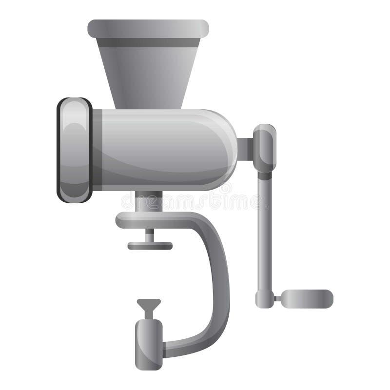 Εικονίδιο μηχανή κοπής κιμά, ύφος κινούμενων σχεδίων απεικόνιση αποθεμάτων