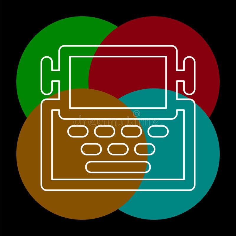 Εικονίδιο μηχανών γραφομηχανών - μηχανή επιστολών τύπων ελεύθερη απεικόνιση δικαιώματος