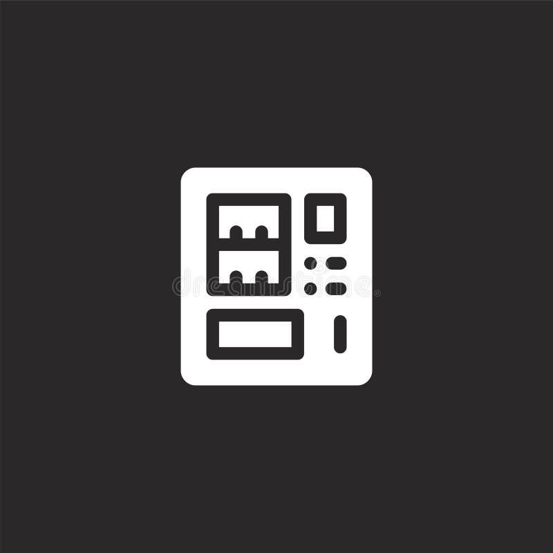 εικονίδιο μηχανών πώλησης Γεμισμένο εικονίδιο μηχανών πώλησης για το σχέδιο ιστοχώρου και κινητός, app ανάπτυξη εικονίδιο μηχανών απεικόνιση αποθεμάτων