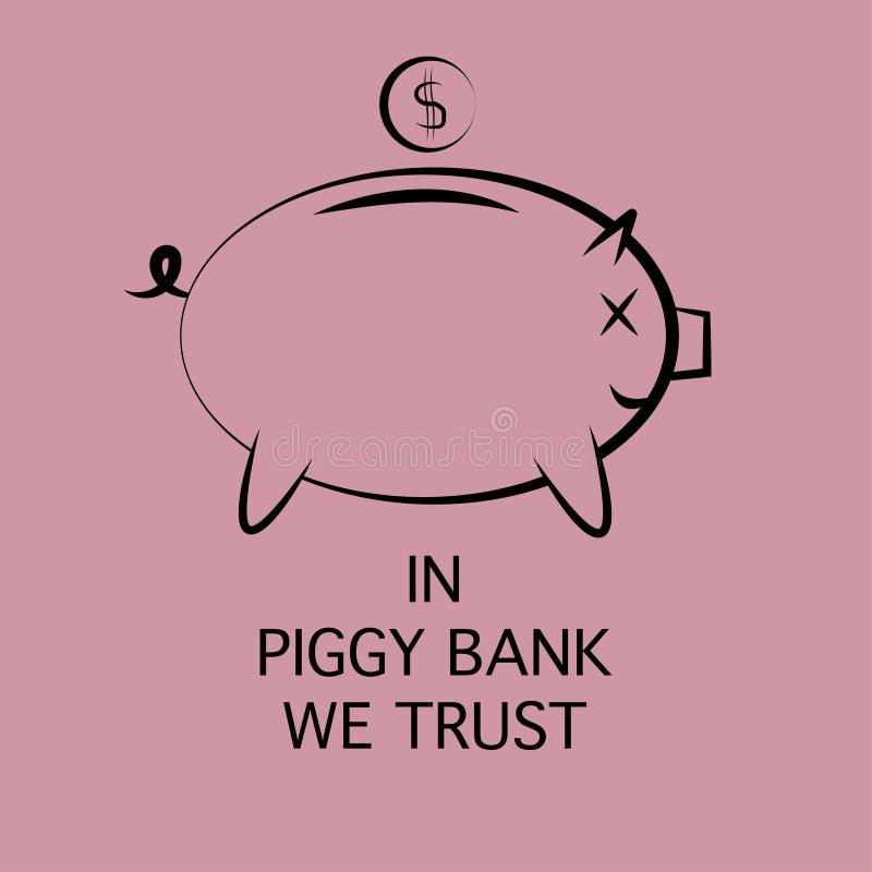 Εικονίδιο μιας piggy τράπεζας για την αποταμίευση χρημάτων ελεύθερη απεικόνιση δικαιώματος