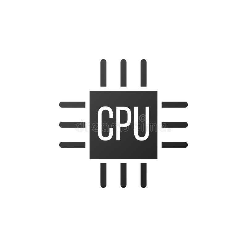 Εικονίδιο μικροτσίπ ΚΜΕ, μονάδα κεντρικής επεξεργασίας, επεξεργαστής υπολογιστών, σύμβολο τσιπ Αφηρημένο λογότυπο τεχνολογίας r ελεύθερη απεικόνιση δικαιώματος