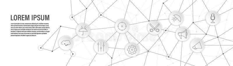 εικονίδιο μικροφώνων Από το σύνολο Ιστού διανυσματική απεικόνιση