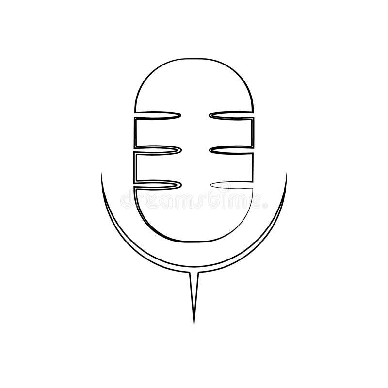 Εικονίδιο μικροφώνων Στοιχείο του οργάνου μουσικής για το κινητό εικονίδιο έννοιας και Ιστού apps r διανυσματική απεικόνιση