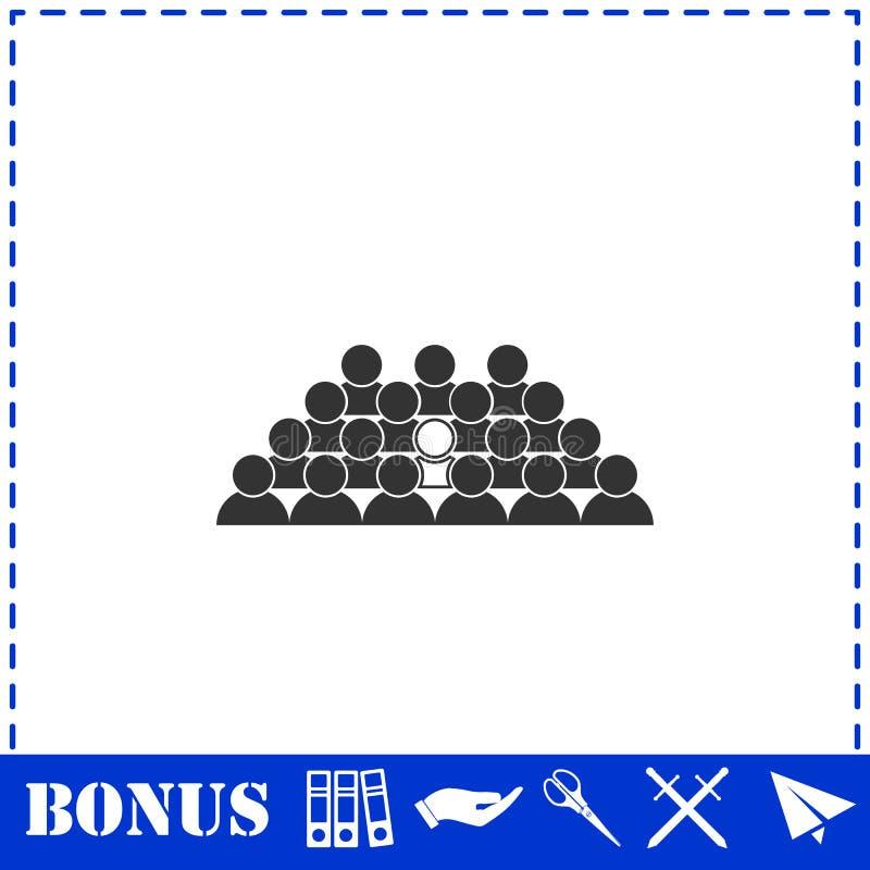 Εικονίδιο μολύβδου ομάδας επίπεδο διανυσματική απεικόνιση