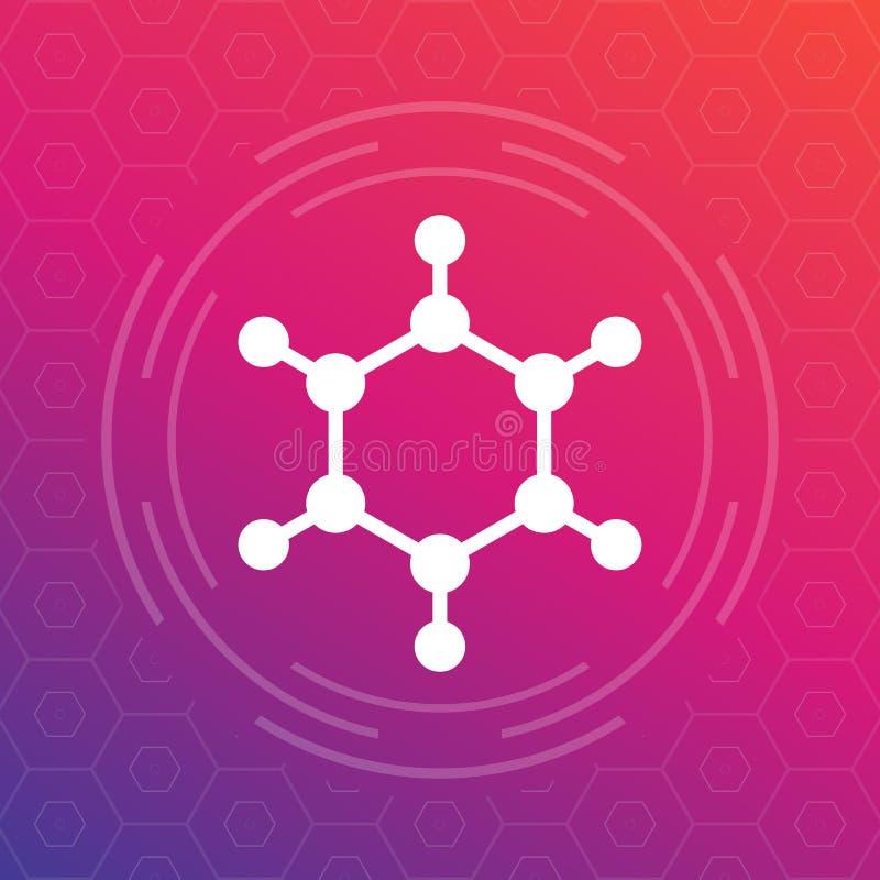 Εικονίδιο μορίων, διανυσματικό στοιχείο λογότυπων ελεύθερη απεικόνιση δικαιώματος