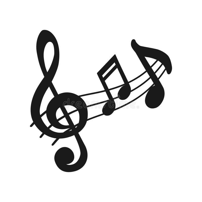 Εικονίδιο μουσικής Ακουστικά υγιή στοιχεία σχεδίου μέσων μουσικά από το προσωπικό μουσικής Σύμβολο σημειώσεων για το σχέδιο ιστοχ διανυσματική απεικόνιση