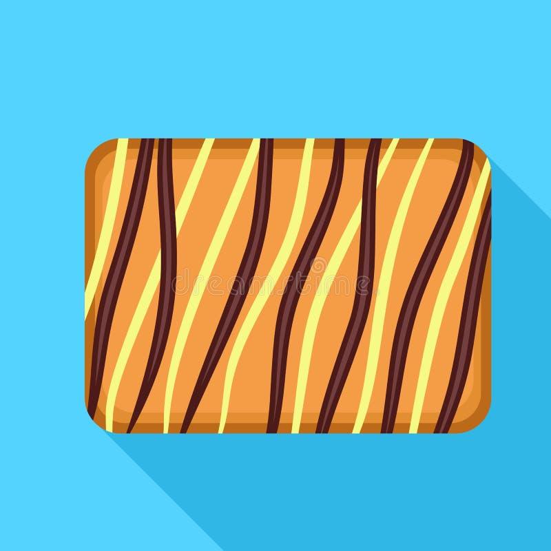 Εικονίδιο μπισκότων κρέμας, επίπεδο ύφος ελεύθερη απεικόνιση δικαιώματος