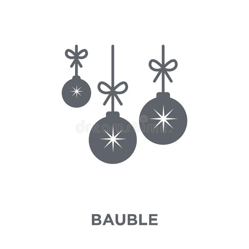 Εικονίδιο μπιχλιμπιδιών από τη συλλογή Χριστουγέννων απεικόνιση αποθεμάτων