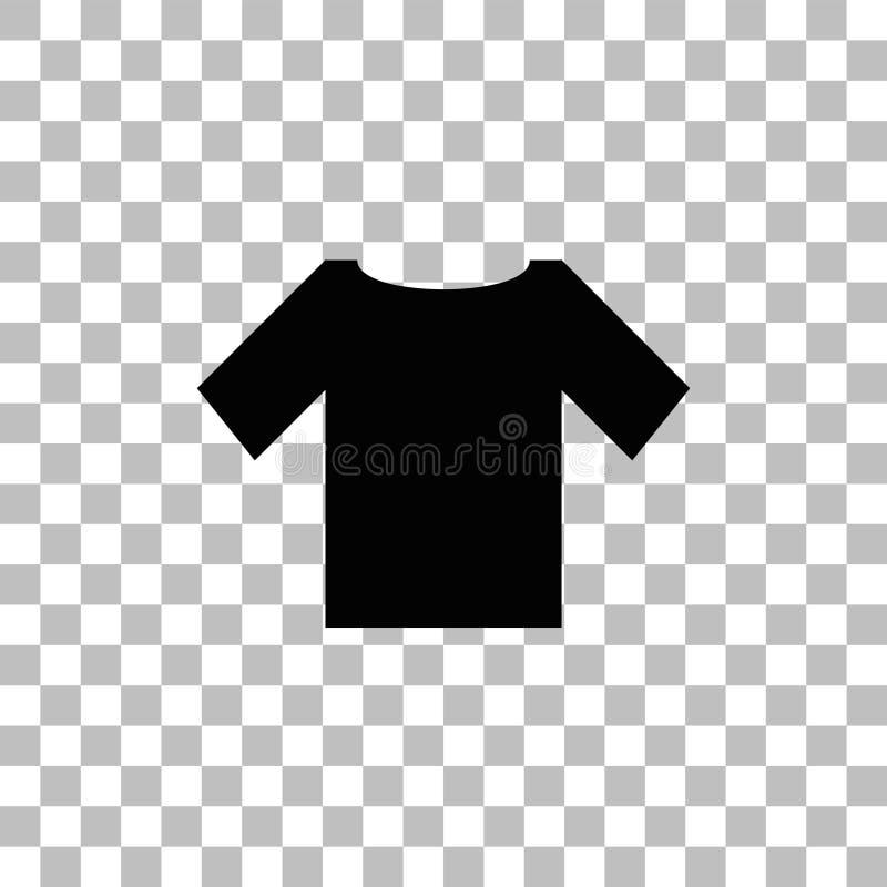 Εικονίδιο μπλουζών επίπεδο ελεύθερη απεικόνιση δικαιώματος