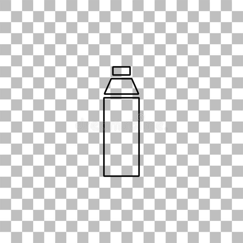 Εικονίδιο μπουκαλιών επίπεδο διανυσματική απεικόνιση
