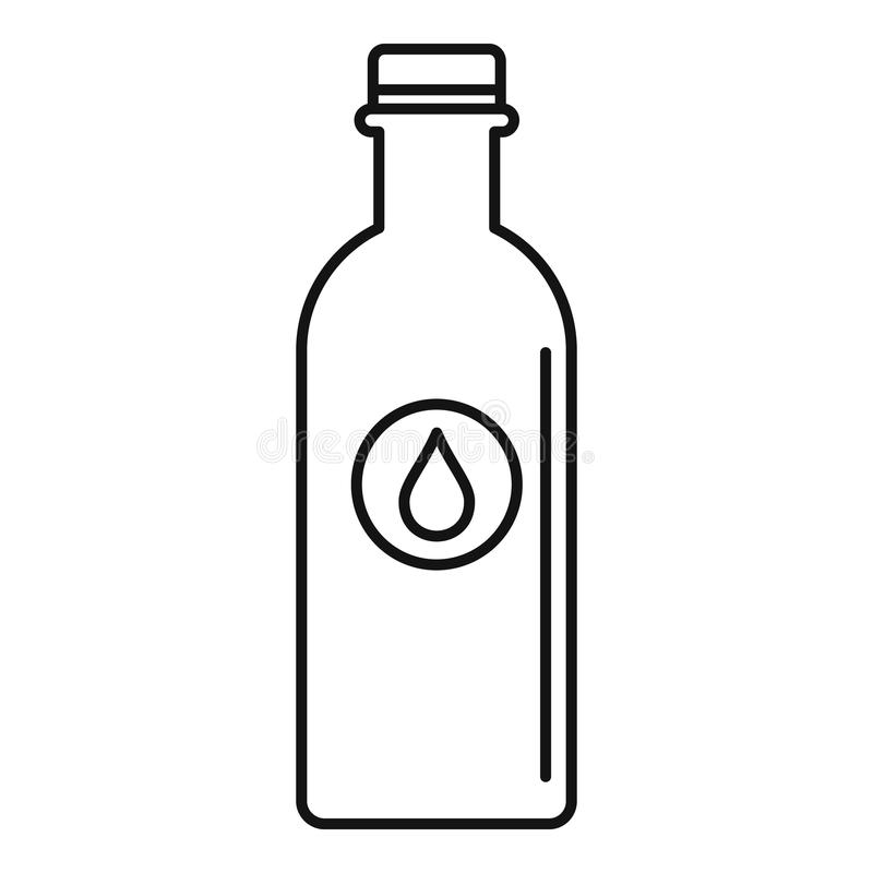 Εικονίδιο μπουκαλιών νερό, ύφος περιλήψεων διανυσματική απεικόνιση