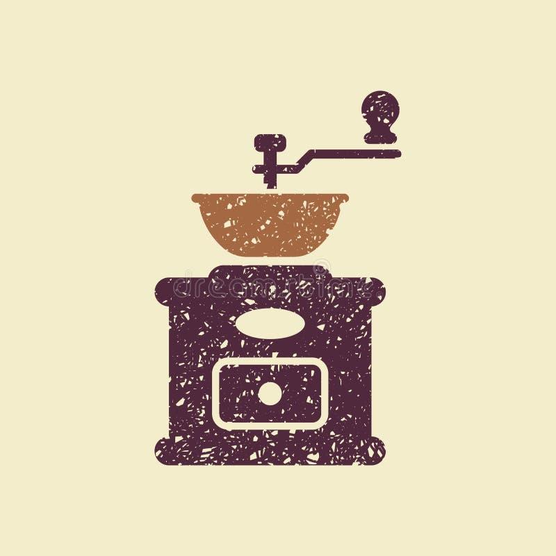 Εικονίδιο μύλων καφέ διανυσματική απεικόνιση