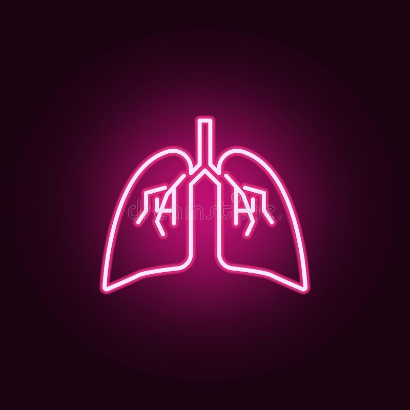 Εικονίδιο νέου πνευμόνων Στοιχεία του συνόλου μελών του σώματος r απεικόνιση αποθεμάτων