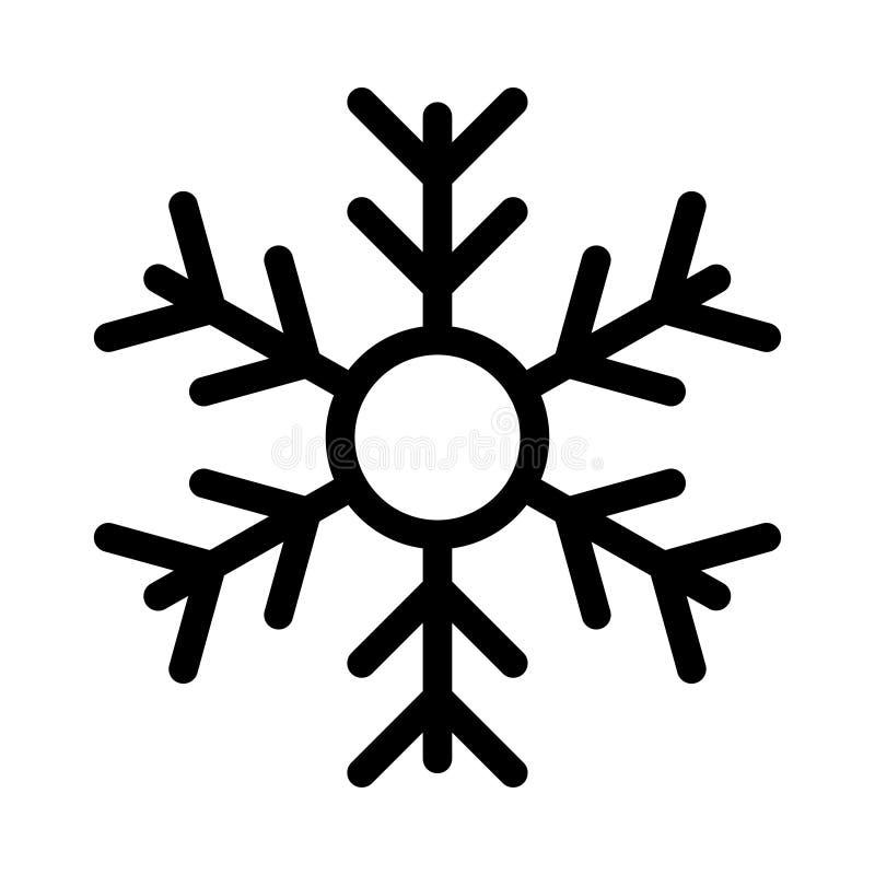 εικονίδιο νιφάδων χιονιού ελεύθερη απεικόνιση δικαιώματος