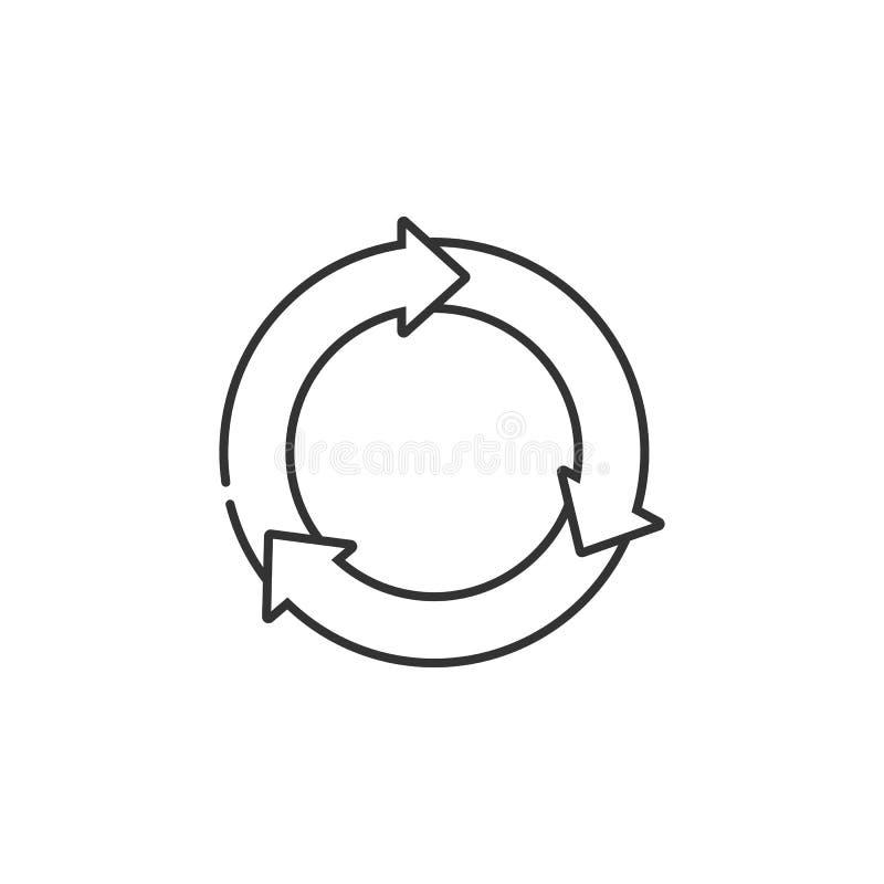 Εικονίδιο ξαναφορτωμάτων Απλή απεικόνιση στοιχείων Σχέδιο συμβόλων ξαναφορτωμάτων από το σύνολο συλλογής οικολογίας Μπορέστε να χ ελεύθερη απεικόνιση δικαιώματος