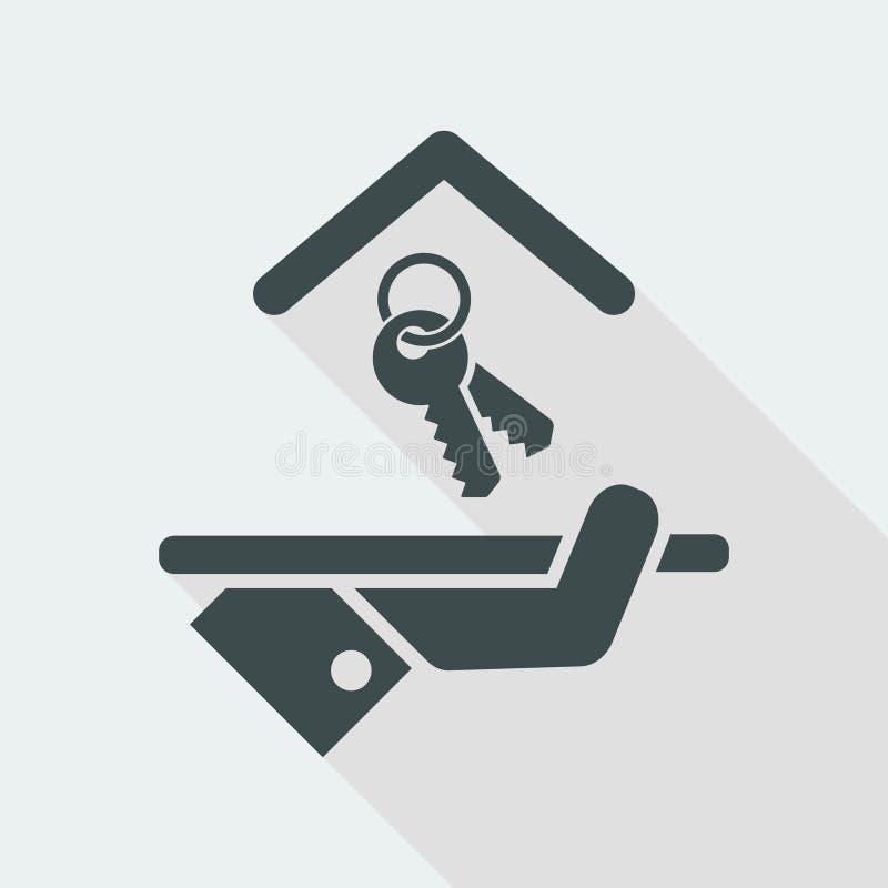 Εικονίδιο ξενοδοχείων Κλειδιά απεικόνιση αποθεμάτων