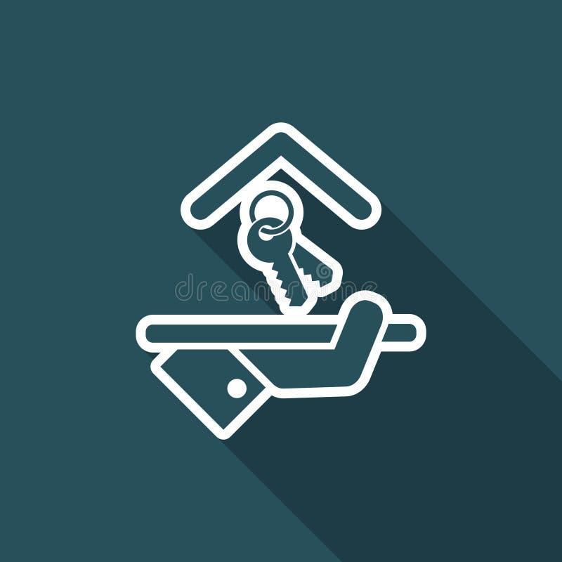 Εικονίδιο ξενοδοχείων Κλειδιά ελεύθερη απεικόνιση δικαιώματος