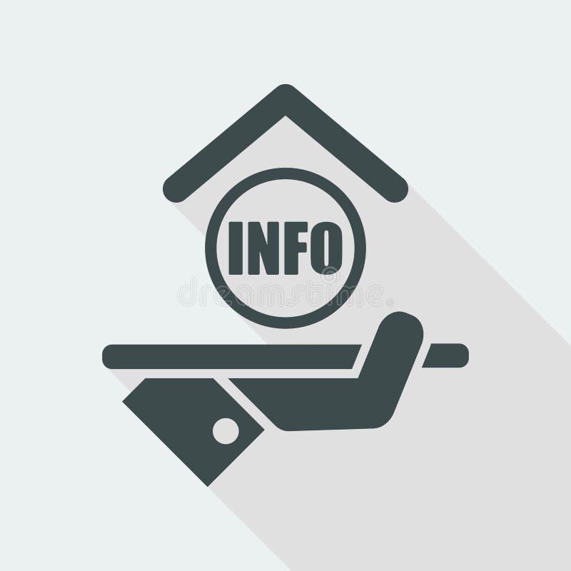 Εικονίδιο ξενοδοχείων πληροφορίες ελεύθερη απεικόνιση δικαιώματος