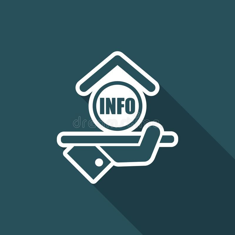 Εικονίδιο ξενοδοχείων πληροφορίες διανυσματική απεικόνιση