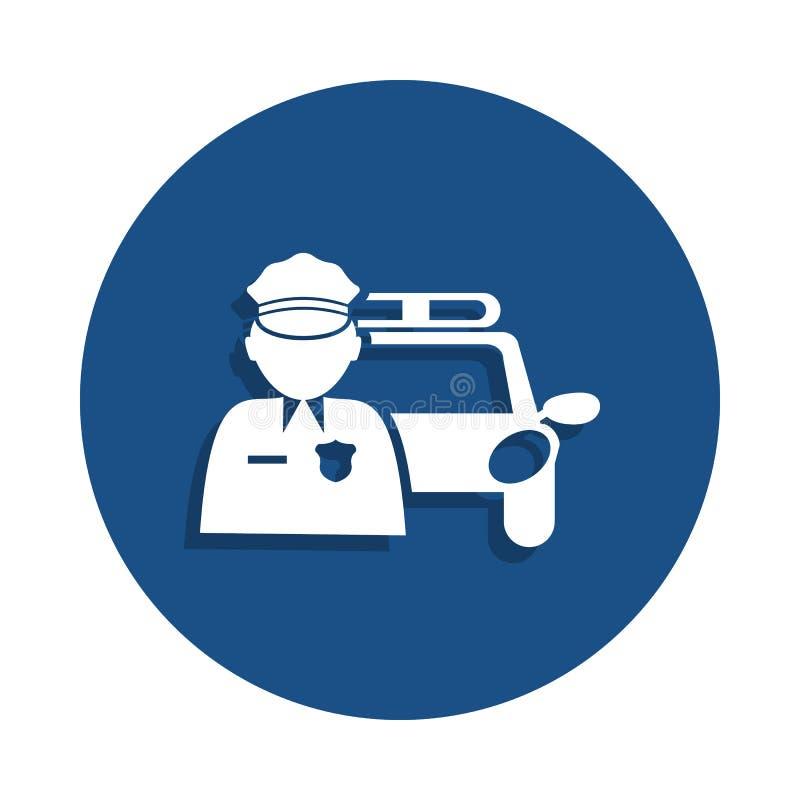 εικονίδιο οδικής περιπόλου στο ύφος διακριτικών Ένα από το εικονίδιο συλλογής αστυνομίας μπορεί να χρησιμοποιηθεί για UI, UX απεικόνιση αποθεμάτων