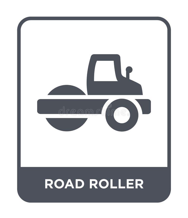 εικονίδιο οδικών κυλίνδρων στο καθιερώνον τη μόδα ύφος σχεδίου εικονίδιο οδικών κυλίνδρων που απομονώνεται στο άσπρο υπόβαθρο δια ελεύθερη απεικόνιση δικαιώματος