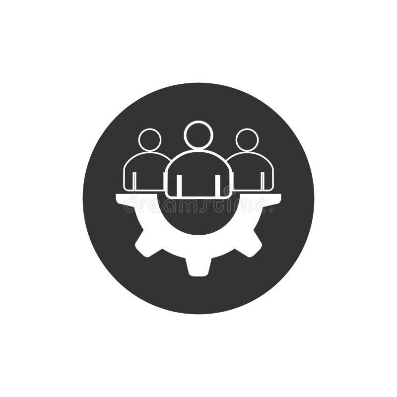 Εικονίδιο ομαδικής εργασίας Επιχειρησιακή ομάδα, συνεργασία, εικονίδιο εργαλείων Διανυσματική απεικόνιση, επίπεδο σχέδιο ελεύθερη απεικόνιση δικαιώματος