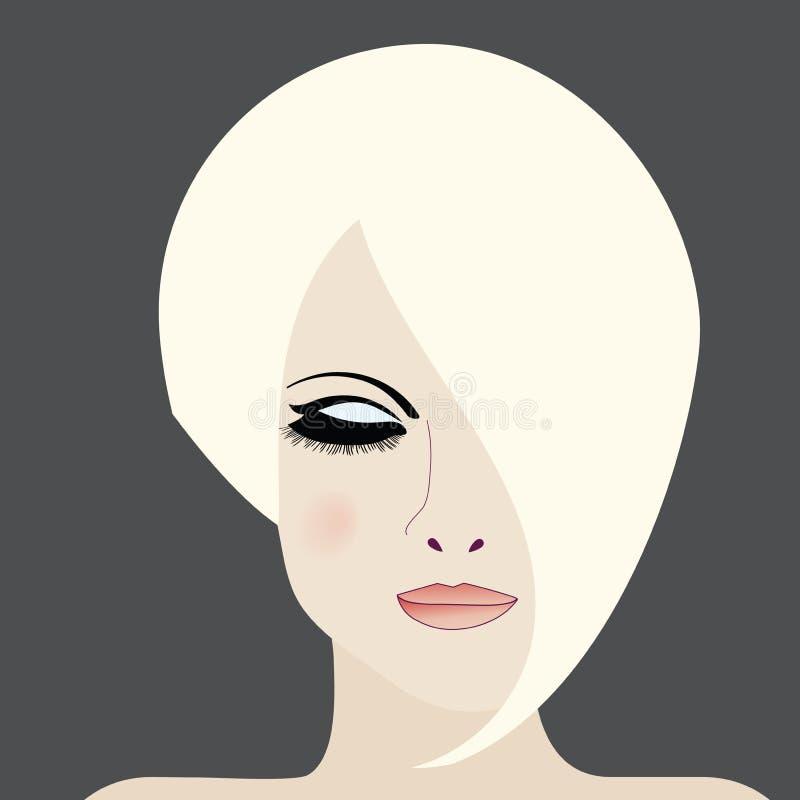 Εικονίδιο ομορφιάς γυναικών ελεύθερη απεικόνιση δικαιώματος