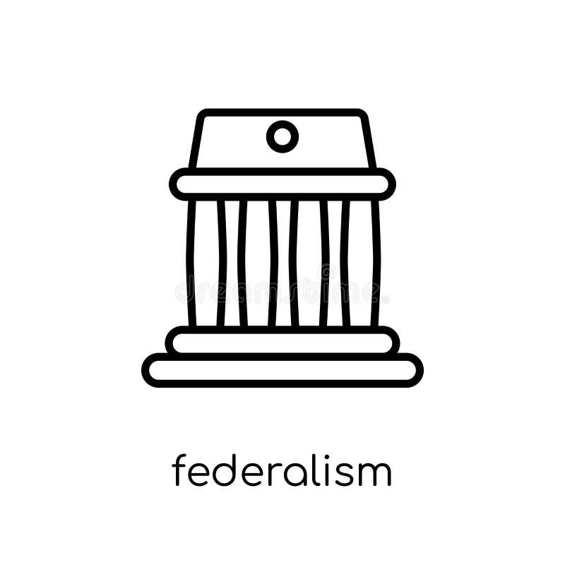 εικονίδιο ομοσπονδιακού συστήματος Καθιερώνον τη μόδα σύγχρονο επίπεδο γραμμικό διανυσματικό ico ομοσπονδιακού συστήματος ελεύθερη απεικόνιση δικαιώματος