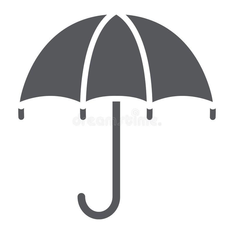 Εικονίδιο ομπρελών glyph, καιρός και προστασία, parasol σημάδι, διανυσματική γραφική παράσταση, ένα στερεό σχέδιο σε ένα άσπρο υπ απεικόνιση αποθεμάτων
