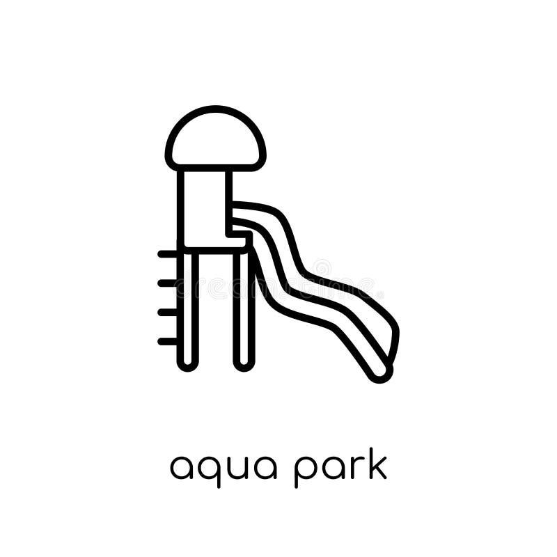 Εικονίδιο πάρκων Aqua από τη θερινή συλλογή διανυσματική απεικόνιση
