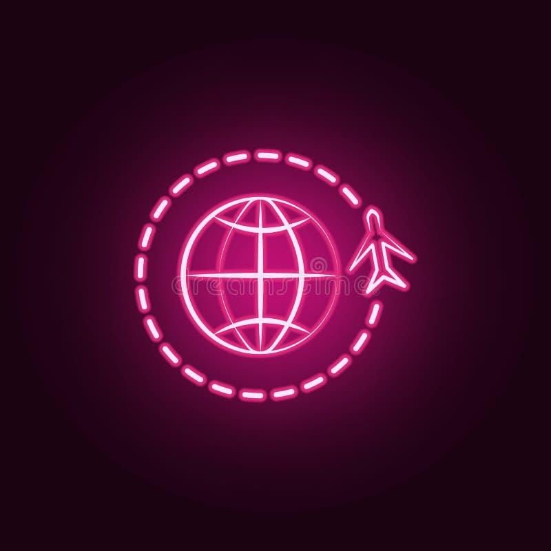 εικονίδιο παγκόσμιου νέου ταξιδιού Στοιχεία του συνόλου ταξιδιού Απλό εικονίδιο για τους ιστοχώρους, σχέδιο Ιστού, κινητό app, γρ απεικόνιση αποθεμάτων