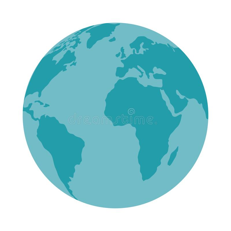 Εικονίδιο παγκόσμιων πλανητών eart απεικόνιση αποθεμάτων