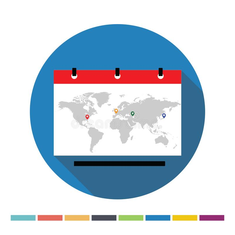 Εικονίδιο παγκόσμιων χαρτών ελεύθερη απεικόνιση δικαιώματος