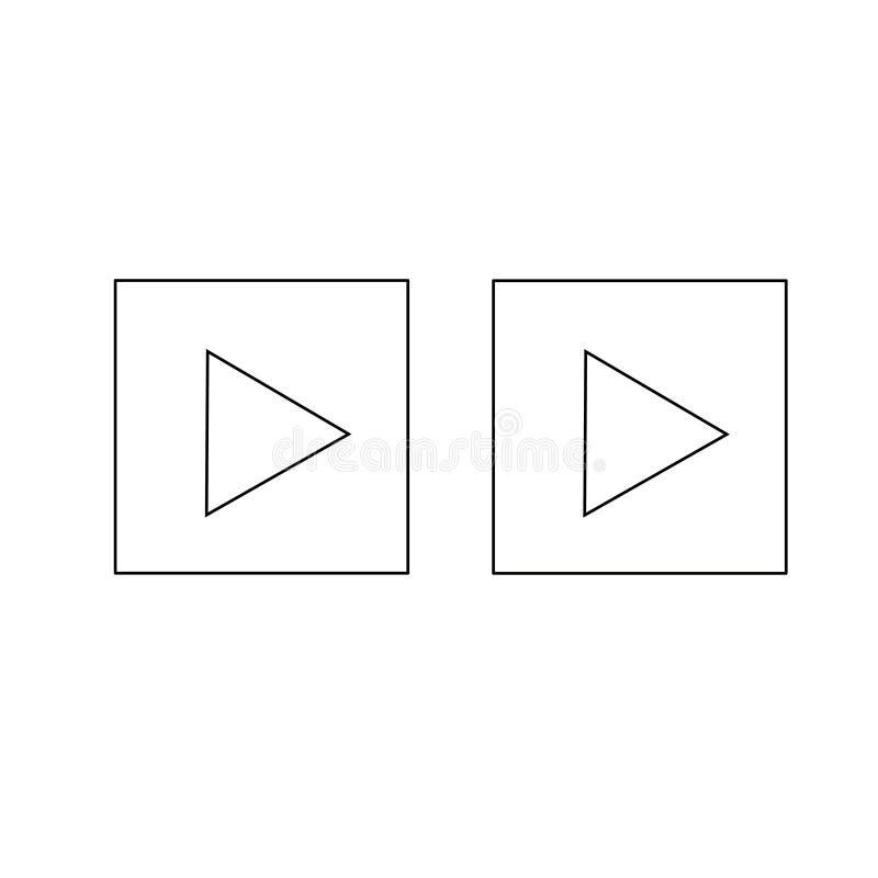 Εικονίδιο ΠΑΙΧΝΙΔΙΟΥ Διανυσματικό εικονίδιο κουμπιών Σύμβολο του παιχνιδιού στοκ εικόνες