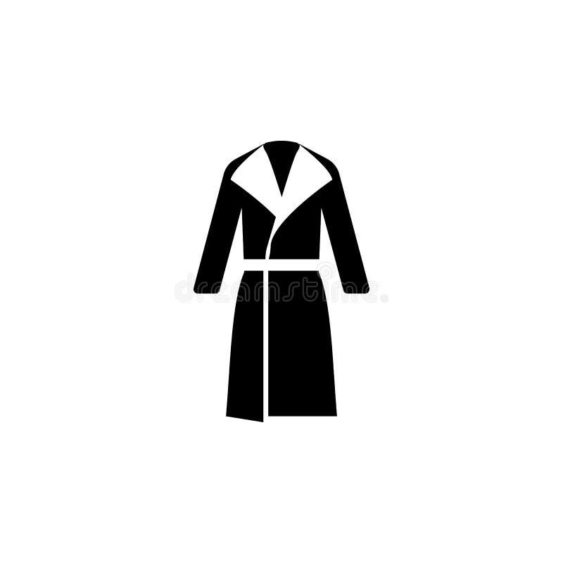 εικονίδιο παλτών στο άσπρο υπόβαθρο Ιματισμός ή ενδύματα ή μόδα για τη διανυσματική απεικόνιση εικονιδίων γυναικών ανδρών διανυσματική απεικόνιση