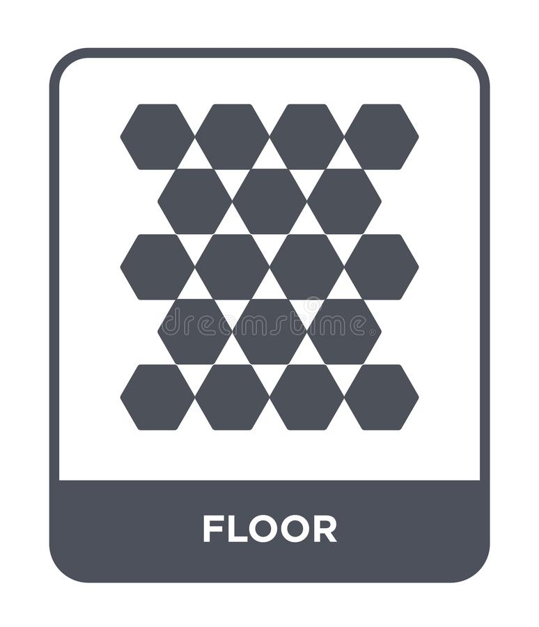 εικονίδιο πατωμάτων στο καθιερώνον τη μόδα ύφος σχεδίου εικονίδιο πατωμάτων που απομονώνεται στο άσπρο υπόβαθρο απλό και σύγχρονο απεικόνιση αποθεμάτων