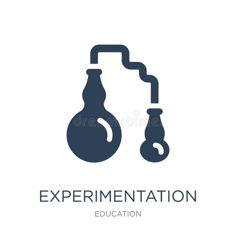 εικονίδιο πειραματισμού στο καθιερώνον τη μόδα ύφος σχεδίου εικονίδιο πειραματισμού που απομονώνεται στο άσπρο υπόβαθρο διανυσματ ελεύθερη απεικόνιση δικαιώματος