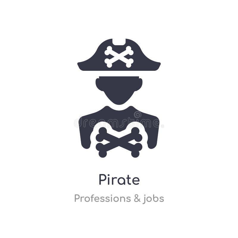 εικονίδιο πειρατών απομονωμένη διανυσματική απεικόνιση εικονιδίων πειρατών από τη συλλογή επαγγελμάτων & εργασιών editable τραγου απεικόνιση αποθεμάτων
