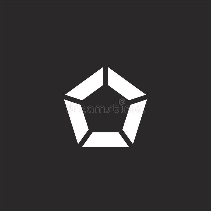 εικονίδιο Πενταγώνου Γεμισμένο εικονίδιο Πενταγώνου για το σχέδιο ιστοχώρου και κινητός, app ανάπτυξη εικονίδιο Πενταγώνου από το ελεύθερη απεικόνιση δικαιώματος
